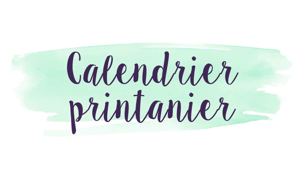 Calendrier Printanier